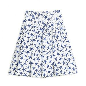 Kate Spade starfish blue & white A-line skirt 6